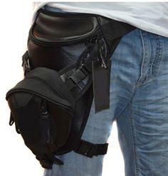High Quality Microfiber Men Rider Leg Bag Hip Drop Travel Military Belt Fanny Waist  Pack Trekking Motorcycle Assault Bags