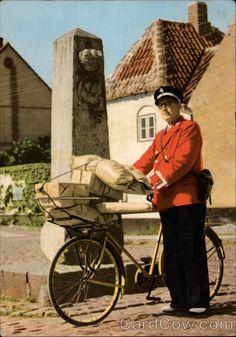 Postman by an Old Milestone Denmark
