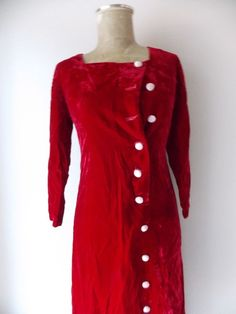 Holiday Size Small Red Velvet Christmas Formal Vintage 50s Cocktail Party #Unknown