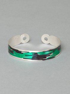 Couverture and The Garbstore - Womens - Ingrid Verhoeven Jewellery - Drawing Bracelet Jewelry Drawing, Black Media, Cuff Bracelets, Jewellery, Green, Silver, Accessories, Medium, Jewels