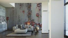 Architects Paper Fototapete Metall (XXL) 470111; simuliert auf der Wand