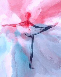 Dancing In Heaven - Painting by Stefan Kuhn