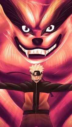 Awesome Naruto and Kyubbi pic! Found on wallpapers ( app ) Naruto Shippuden Sasuke, Naruto Kakashi, Naruto Uzumaki Art, Wallpaper Naruto Shippuden, Naruto Wallpaper, Boruto, Wallpapers Games, Wallpapers Naruto, Animes Wallpapers