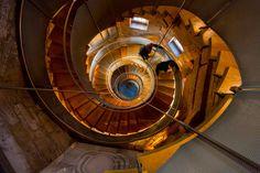 De wenteltrap in de Mackintosh Tower
