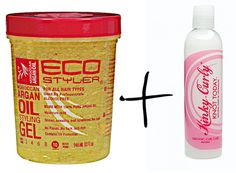 """Cameron Fresco says """"Fantastic combination of products. Combining the two to make a most fantastic moisturizing gel.  When you get a small jar/container and put a little bit of the Kinky Curly Knot Today with the ECOStyler Argan oil gel and mix it together until it becomes creamy, this is when the wonderful world synergistic effects happen. Apply it to your hair and Viola! Your hair is laid and slain for the gods."""""""