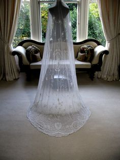 Belgian lace wedding veil ... fantastic!  $2763. ouch...