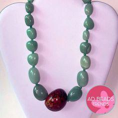 Collar de Jade y Tagua @adbeadstrends Adbeadstrends@gmail.com