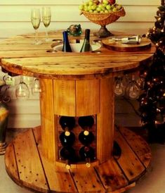 Marvelous Diy Recycled Wooden Spool Furniture Ideas For Your Home No 18