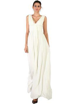eDressit robe de soiree/bal/ceremonie/mariage elegante et simple creme(00090907): Amazon.fr: Vêtements et accessoires