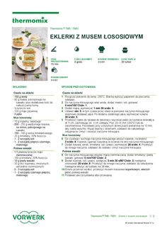 thermomix - Eklerki z musem lososiowym Make It Simple, Food And Drink, Cooking, How To Make, Thermomix, Baking Center, Brewing