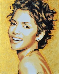 Halle Berry Original Limited Signed Edition Art Prints are available for $ 35.  www.victorminca.com