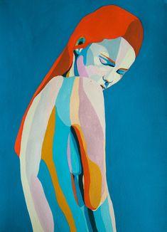 Handmade illustrations realized with gouache Oil Pastel Art, Guache, Diy Canvas Art, Art Moderne, Portrait Art, Figurative Art, Watercolor Art, Pop Art, Art Projects