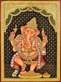 Ganesha mysore painting