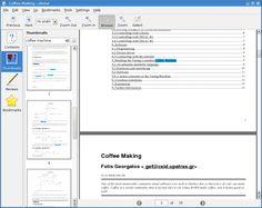 Okular -  PDF editor en linux.