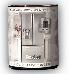 Wow. Check this out. Liquid Stainless Steel to paint appliances. I can't wait to try this. Watch the video > http://www.liquidstainlesssteel.com/learnhow.html
