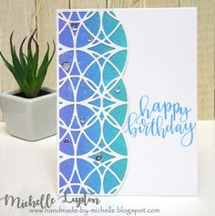 Handmade by Michelle: Birthday trellis Distress Oxide Ink, Mothers Day Cards, Simon Says Stamp, Color Card, Trellis, I Card, Birthday Cards, Stencils, Projects To Try