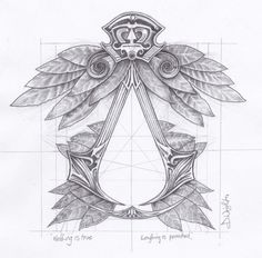 Renaissance inspired Assassins Creed symbol. by DWrightArt on Etsy, £6.00