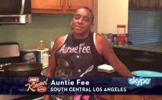 Auntie Fee Cooks On Jimmy Kimmel Live!