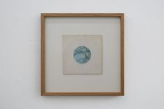 "Johan Øvergård Water Offset print, 7"" record sleeve, 40 x 40 cm framed, 2014"