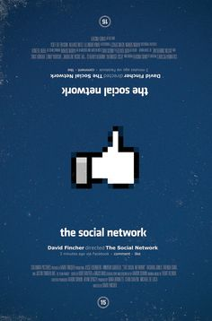 The Social Network (2010) ~ Minimal Movie Poster by Olly Moss #amusementphile