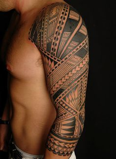 """Polynesian Tattoo.... """"You could almost make it go Art Deco... hmmmm...."""" Another Pinner said. To that I say, other way around. Where do you think the """"Art Deco"""" movement borrowed these motifs from? Around the globe. Indiginous people. Astounding art. Thanks for posting."""