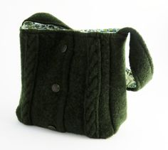 Love this! FELTED GREEN Cabled Sweater Purse / Wool/ by rescuedbykathleen, $45.00