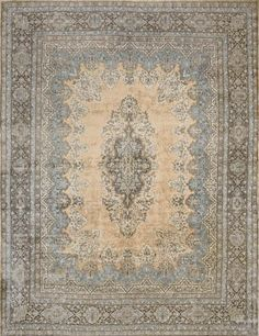"Kerman rugs and carpets (sometimes ""Kirman"") are named after the city of Kerman. Kerman has been a major center for the production of high quality carpets since at least the 15th century. Antique rugs for your home by www.igotyourrug.com"