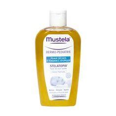 Mustela Stelatopia aceite de baño 250 ml. Baño cotidiano de las pieles secas con tendencia atópica. ideal en periodos en crisis. formulada para minimizar el riesgo de reacción alérgica.
