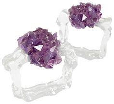 Ardana Napkin Rings, Amethyst modern-napkin-rings $105 for 4. ~ETS #birthstone #amethyst
