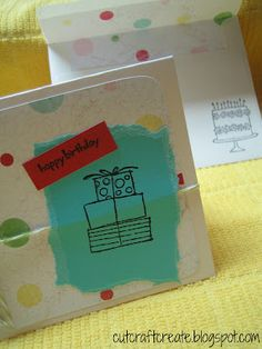DIY birthday card.  Really easy and cute (plus a matching envelope!).  This site has several cute card ideas!