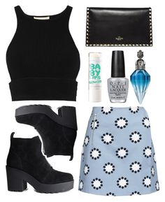 Pastel skies by maggielouisee on Polyvore featuring polyvore, fashion, style, Jonathan Simkhai, Matthew Williamson, H&M, Valentino, OPI, Maybelline and clothing