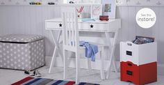 Star Bright Desk & Nelson Chair Set