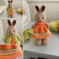 Photos and Videos Knitted Stuffed Animals, Knitted Bunnies, Knitted Animals, Crochet Bunny, Knitted Dolls, Crochet Dolls, Knitting Designs, Knitting Projects, Knitting Patterns