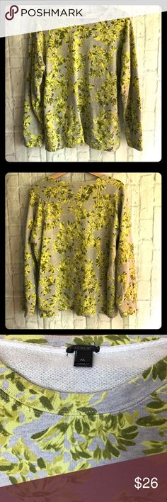 J. Crew floral sweatshirt 100% cotton sweatshirt J. Crew Tops Sweatshirts & Hoodies