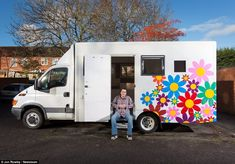 Alex Saunders, 42, from Hampshire bought an old, dirty, prison van for £3000 and turned into a luxury motorhome . ~ click on photo for more ~