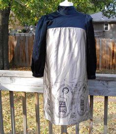 VOOM by JOY HAN Silk Print Design Babydoll Dress ~ Medium (6, 8) #JoyHan