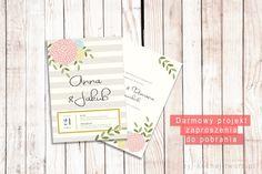 darmowy projekt zaproszenia ślubnego do pobrania