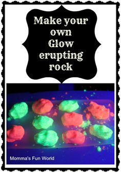 Glow erupting rocks using 2 simple ingredients. Kids of all ages would love them.