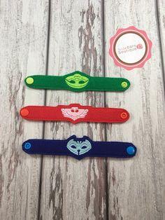 PJ mascarilla pulseras pulseras de fieltro pulseras de héroe