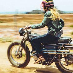 Old Honda Motorcycle Gal