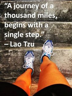 """A journey of a thousand miles begins with a single step."" – Lao Tzu    Like these kinds of posts? Find more at http://Facebook.com/ImmuvitPH    #Running #Cycling #Fitness #Swimming #Boxing #Sports #Motivation #Immuvit"