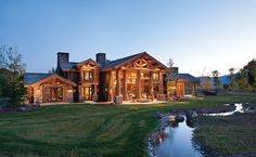 Nice Luxury Log Cabins For Home Design Luxury Log Cabin Homes . Luxury Log Cabins, Log Cabin Homes, Log Home Living, Log Home Decorating, Cabin In The Woods, Timber House, Logs, Architecture, My Dream Home