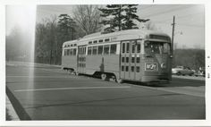 Capital Transit PCC on Route 80 (Brookland) (1950s).