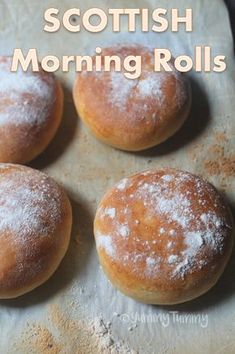 This soft scottish morning rolls are perfect served warm with a cup of coffee or tea. They are also called as floury rolls. Scottish Bread Recipe, Scottish Recipes, Irish Recipes, Scottish Desserts, Bagels, Traditional Scottish Food, Scotland Food, Scottish Dishes, Hp Sauce