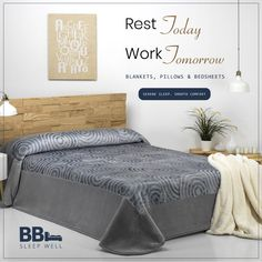 Rest Today, Work Tomorrow.  #BBL #Luxury #BedBlankets