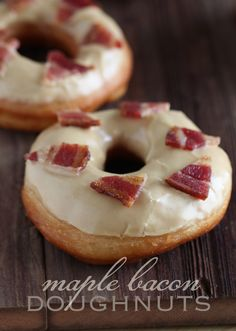 Maple Bacon Doughnuts with all-natural maple frosting