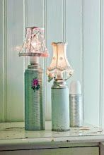Wish I were crafty enough to do these thermos lamps--links to a pretty website--wish I could read Dutch or whatever it's written in.