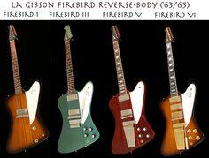 Gibson Firebirds, I to VII.
