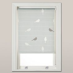 Buy John Lewis Bird on a Wire Daylight Roller Blind, Mineral Online at johnlewis.com