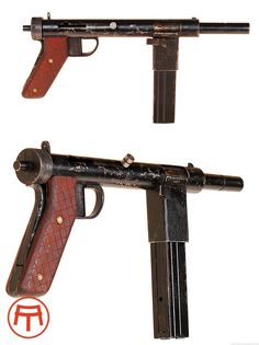 Impro Guns - Danish resistance WWII Era SMG machine pistol